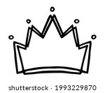 hand drawn stylized crown...   Shutterstock .eps vector #1993229870