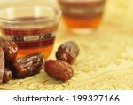 black coffee with dates   a...   Shutterstock . vector #199327166