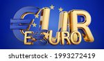 eur currency symbol as currency ...   Shutterstock . vector #1993272419