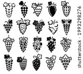 grapes set. collection icons... | Shutterstock .eps vector #1993298276