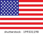 vector image of american flag  | Shutterstock .eps vector #199331198
