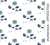 floral pattern. shades of blue. ... | Shutterstock .eps vector #1993327310