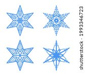 a set of blue snowflakes on a... | Shutterstock .eps vector #1993346723