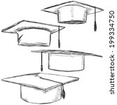 vector set of sketch academic...   Shutterstock .eps vector #199334750
