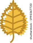yellow hazel leaf  illustration ... | Shutterstock .eps vector #1993367720