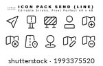 icon set of send line icons....   Shutterstock .eps vector #1993375520