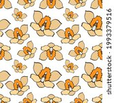 doodle orchid seamless pattern... | Shutterstock .eps vector #1993379516