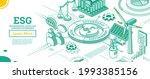 esg concept of environmental ... | Shutterstock .eps vector #1993385156