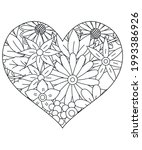 heart with floral pattern.... | Shutterstock .eps vector #1993386926