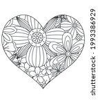 heart with floral pattern.... | Shutterstock .eps vector #1993386929