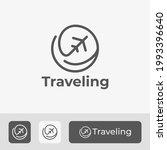 minimal travel logo icon design ...   Shutterstock .eps vector #1993396640