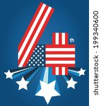 4 july american independence... | Shutterstock .eps vector #199340600