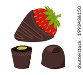 chocolate covered strawberries...   Shutterstock .eps vector #1993436150