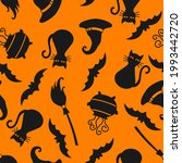 seamless pattern with halloween ...   Shutterstock .eps vector #1993442720