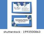 business card template blue...   Shutterstock .eps vector #1993500863