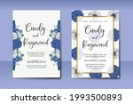 wedding invitation watercolor...   Shutterstock .eps vector #1993500893