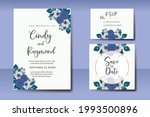 wedding invitation watercolor...   Shutterstock .eps vector #1993500896