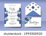 wedding invitation watercolor...   Shutterstock .eps vector #1993500920