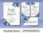 wedding invitation watercolor...   Shutterstock .eps vector #1993500923