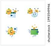 nft flat icons set.cryptomedia. ...