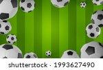 3d rendering soccer balls...   Shutterstock . vector #1993627490
