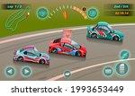 burnout car  game sport car...   Shutterstock .eps vector #1993653449