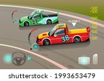 burnout car  game sport car...   Shutterstock .eps vector #1993653479