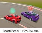burnout car  game sport car...   Shutterstock .eps vector #1993653506