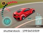 burnout car  game sport car...   Shutterstock .eps vector #1993653509