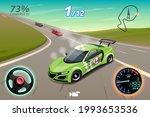 burnout car  game sport car...   Shutterstock .eps vector #1993653536
