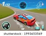 burnout car  game sport car...   Shutterstock .eps vector #1993653569