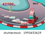 burnout car  game sport car...   Shutterstock .eps vector #1993653629
