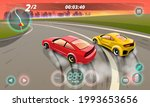 burnout car  game sport car...   Shutterstock .eps vector #1993653656