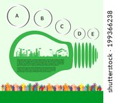 go green concept. save world... | Shutterstock .eps vector #199366238