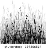 silhouettes of grass  hand...   Shutterstock .eps vector #199366814