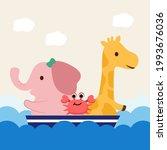 Animal Concept. A Giraffe And...