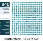 240 icons set. vector... | Shutterstock .eps vector #199375469
