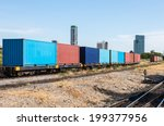 container wagon near the center ... | Shutterstock . vector #199377956