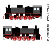 Set Of Two Colored Trains Black ...