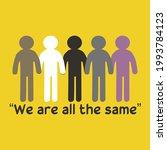illustration of us all the same ...   Shutterstock .eps vector #1993784123