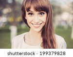 young girl posing in the street | Shutterstock . vector #199379828