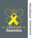 butterfly childhood cancer...   Shutterstock .eps vector #1993827266