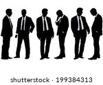 businessman in suit on white... | Shutterstock .eps vector #199384313