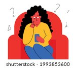 the girl is sitting with the... | Shutterstock .eps vector #1993853600