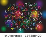 black background with color... | Shutterstock .eps vector #199388420
