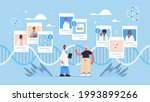 doctor consulting patients dna... | Shutterstock .eps vector #1993899266
