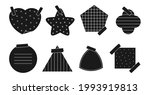 black silhouette paper sticker... | Shutterstock .eps vector #1993919813
