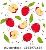 Red Apples  Apple Slices  Seeds ...