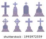 grave stone vector design... | Shutterstock .eps vector #1993972559