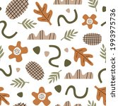 organic seamless pattern with...   Shutterstock .eps vector #1993975736